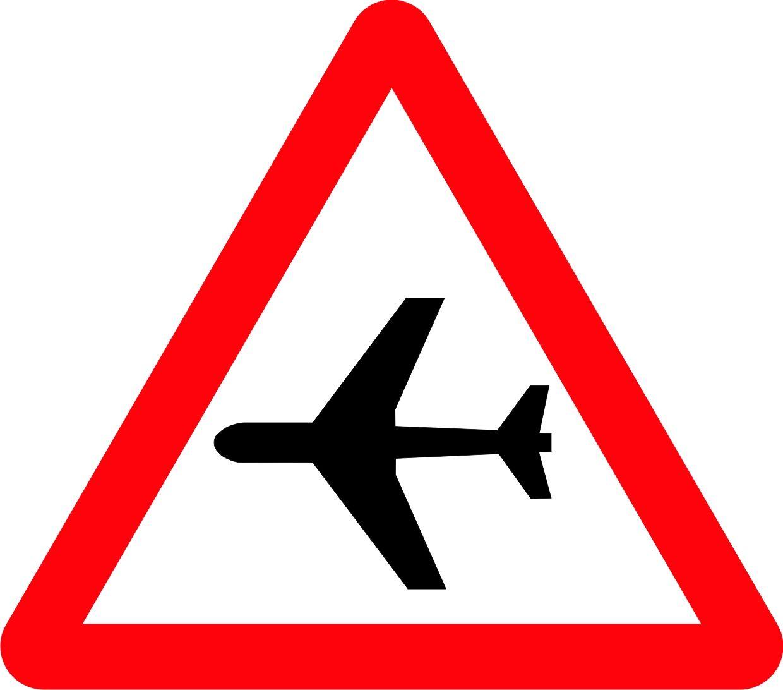 Señal aeropuerto | Señalización vial de Peligro | Pinterest ...