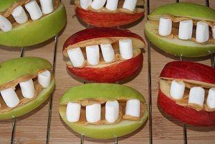 Bouchées de pommes terrifiantes
