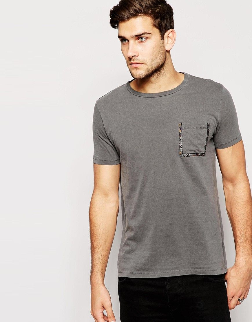 ASOS T-Shirt With Aztec Taped Pocket And Relaxed Skater Fit