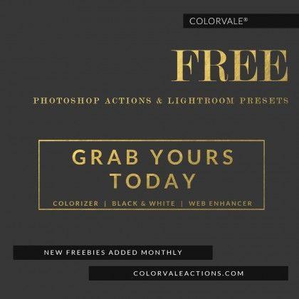 Best Free Photoshop Actions & Lightroom Presets