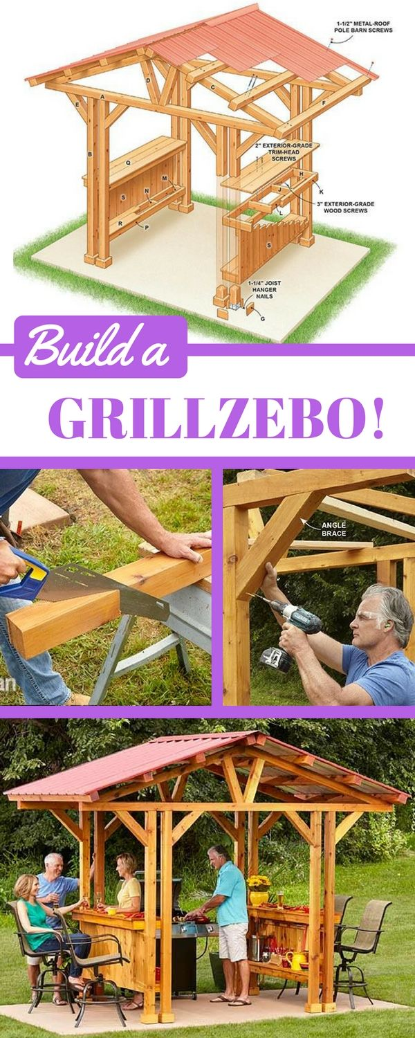 Grill Gazebo Plans Make A Grillzebo Diy Gazebo Gazebo Plans