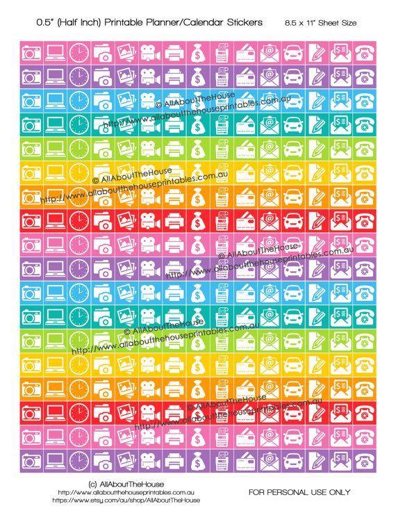Photography Business Planner Stickers RAK Printable Calendar Stickers 12 Square Rainbow onl Photography Business Planner Stickers RAK Printable Calendar Stickers 12 Squar...