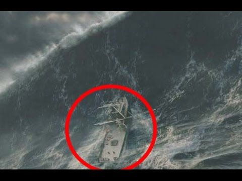 Amazing Tanker Ship In Extreme Storm With Heavy Winds Atlantic Storm Wave Hits Ship