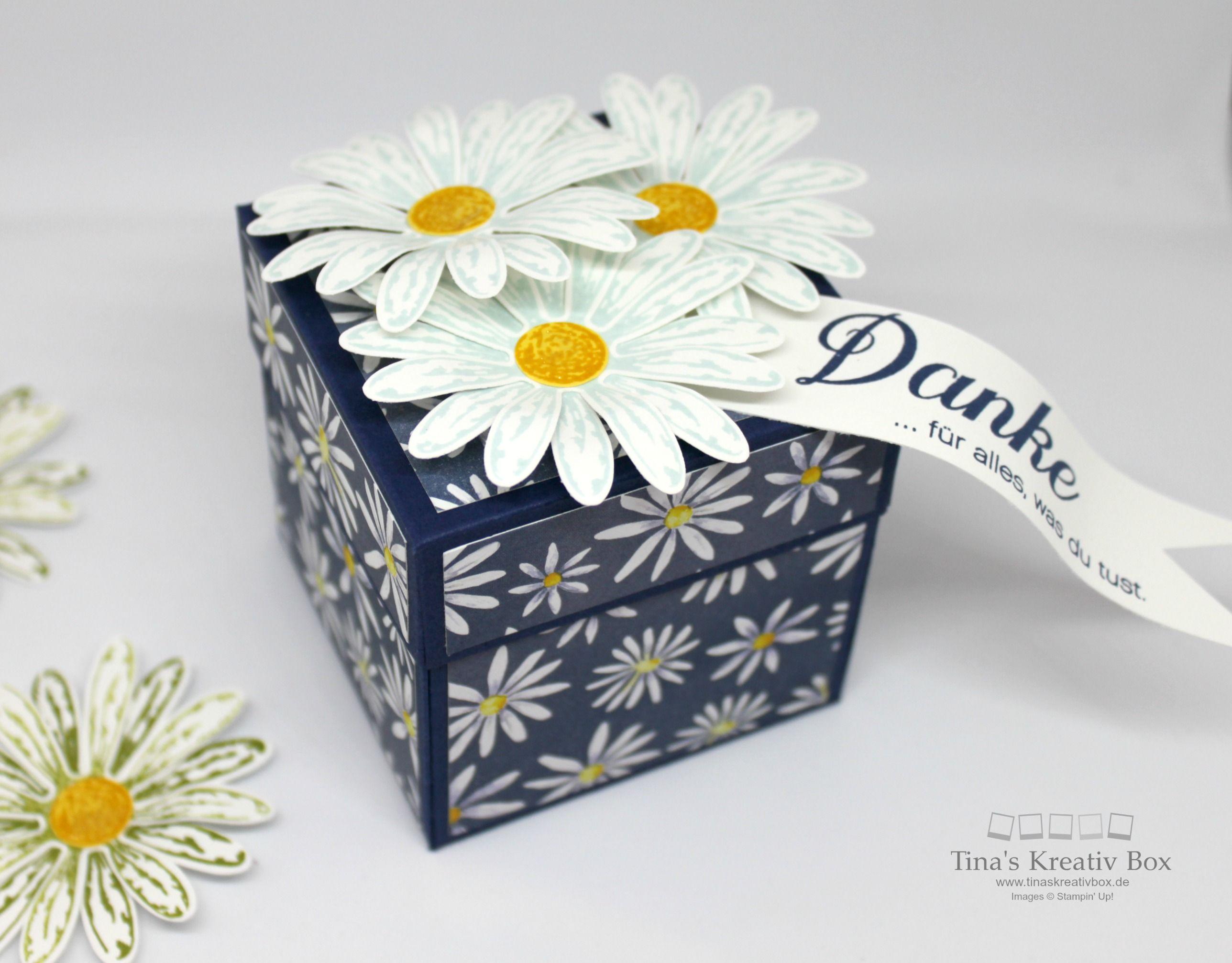 Pootler's Blog Hop - Explosions Box Gänseblümchem Gruß mit Produkten von Stampin' Up!