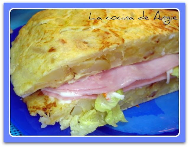 La cocina de Angie: TORTILLA DE PATATA Y CALABACÍN RELLENA