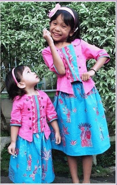Dress Batik Anak Perempuan Ethnic Batik Ikat Pakaian Anak