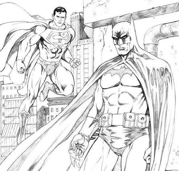 BATMAN VS SUPERMAN Coloring Pages PICTURES PHOTOS And IMAGES