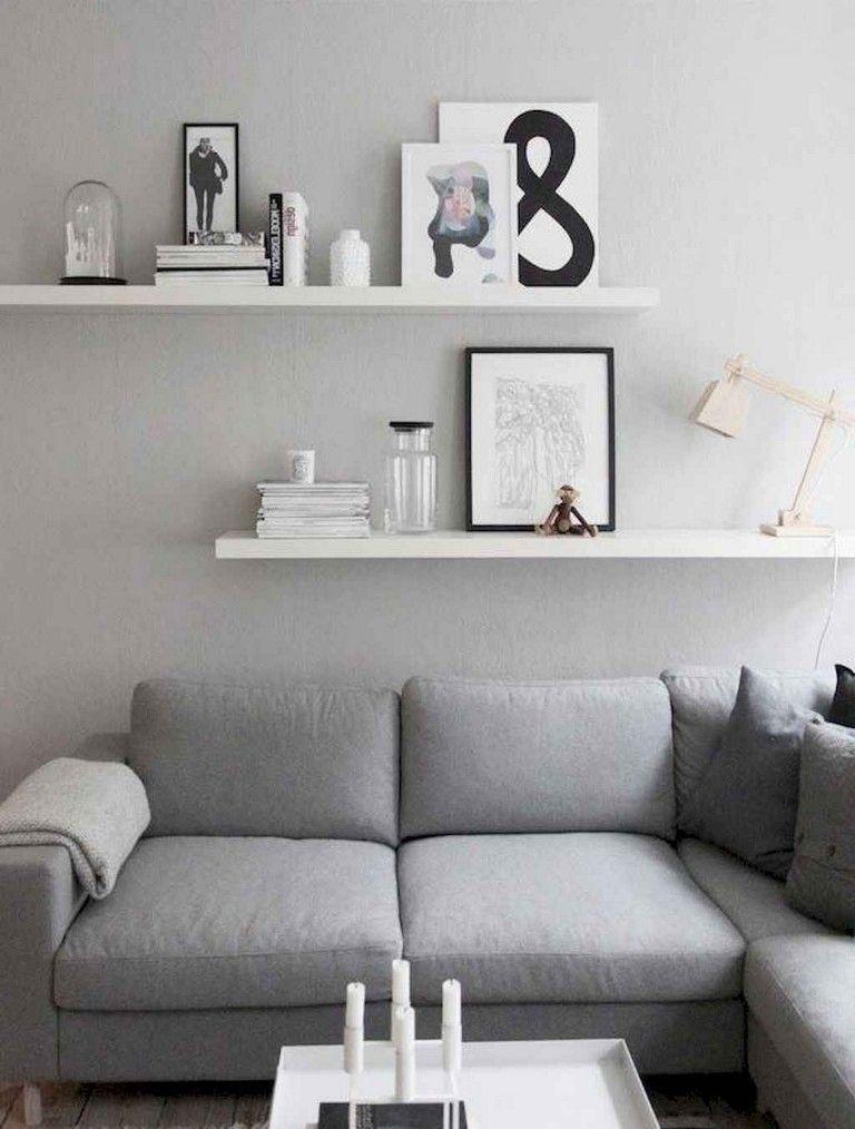 75 Smart Diy Floating Shelves For Living Room Decorating Ideas Shelvesdecor Shelf Decor Living Room Floating Shelves Living Room Bookshelves In Living Room