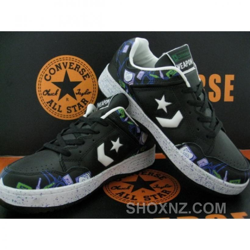 Converse Weapon Low White Dark Gray Orange Shoes EzEX3