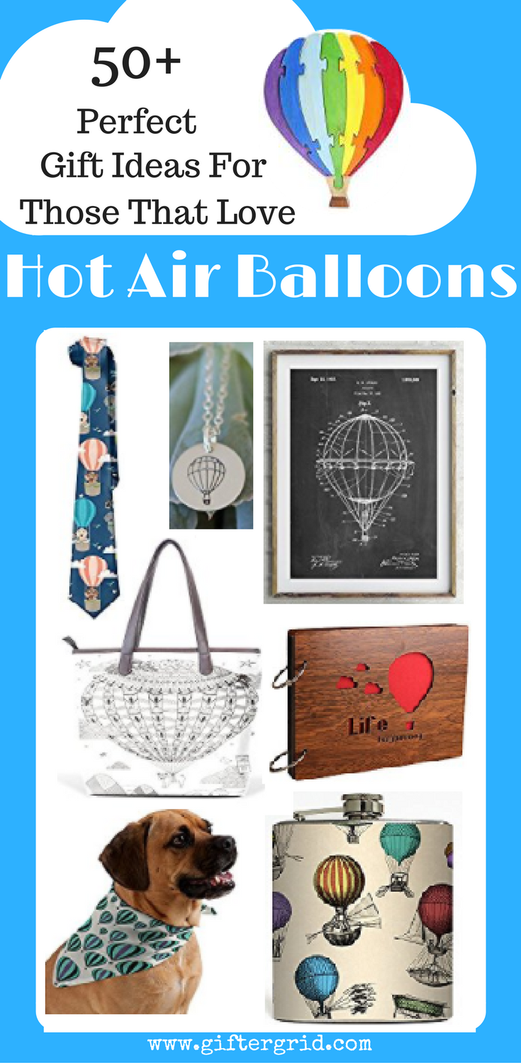 Perfect gift ideas for those that love hot air balloons, whether it is on their bucket list or if they've flown a million times. This is the ultimate gift list for any hot air balloon enthusiast and even includes hot air balloon nursery or baby shower ideas and baby shower favors! Plus, several gift ideas for pet lovers as well!