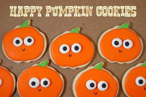 Happy Pumpkin Cookies