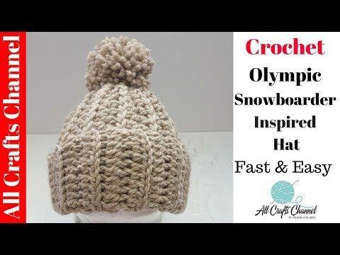 855a3c947b5cc Crochet Olympic Snowboarder Inspired Hat - Beginner Level