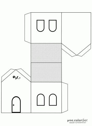 house cut out template
