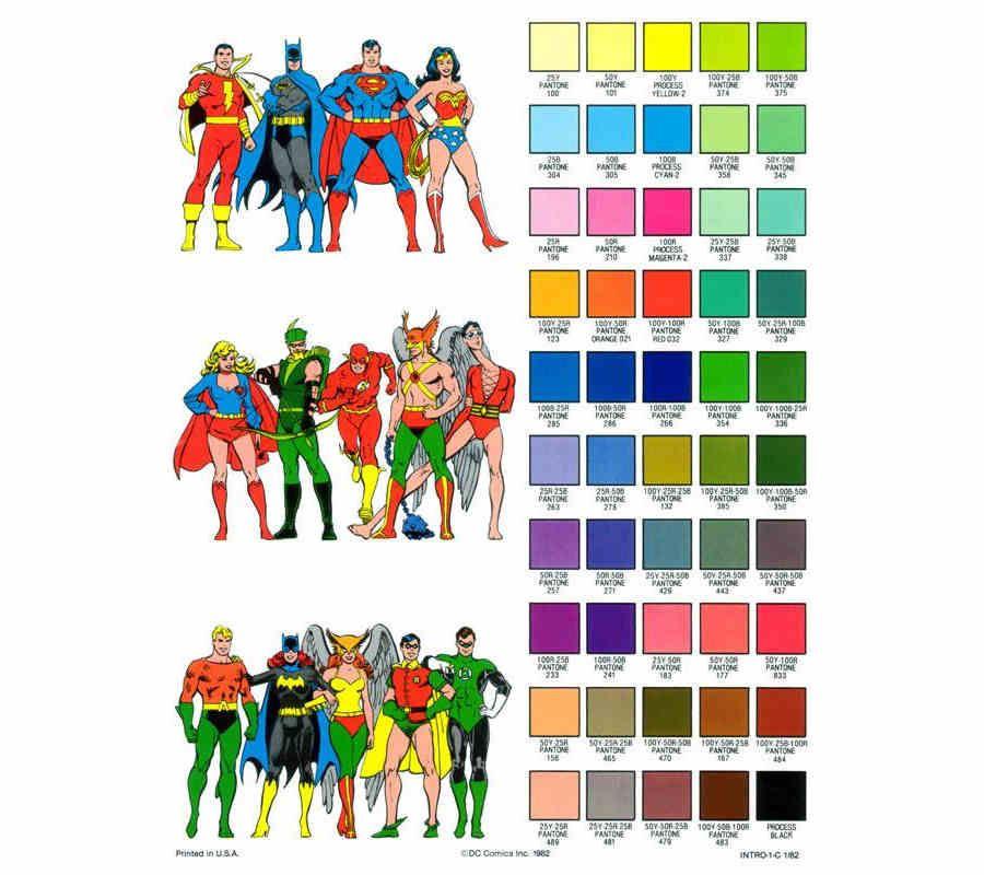 Dibujos De Dc Comics Para Colorear En Una Guía De 1982