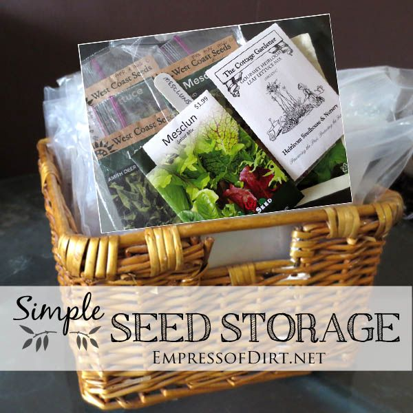 Simple Vegetable Garden Ideas For Your Living: Simple Garden Seed Storage & Organization