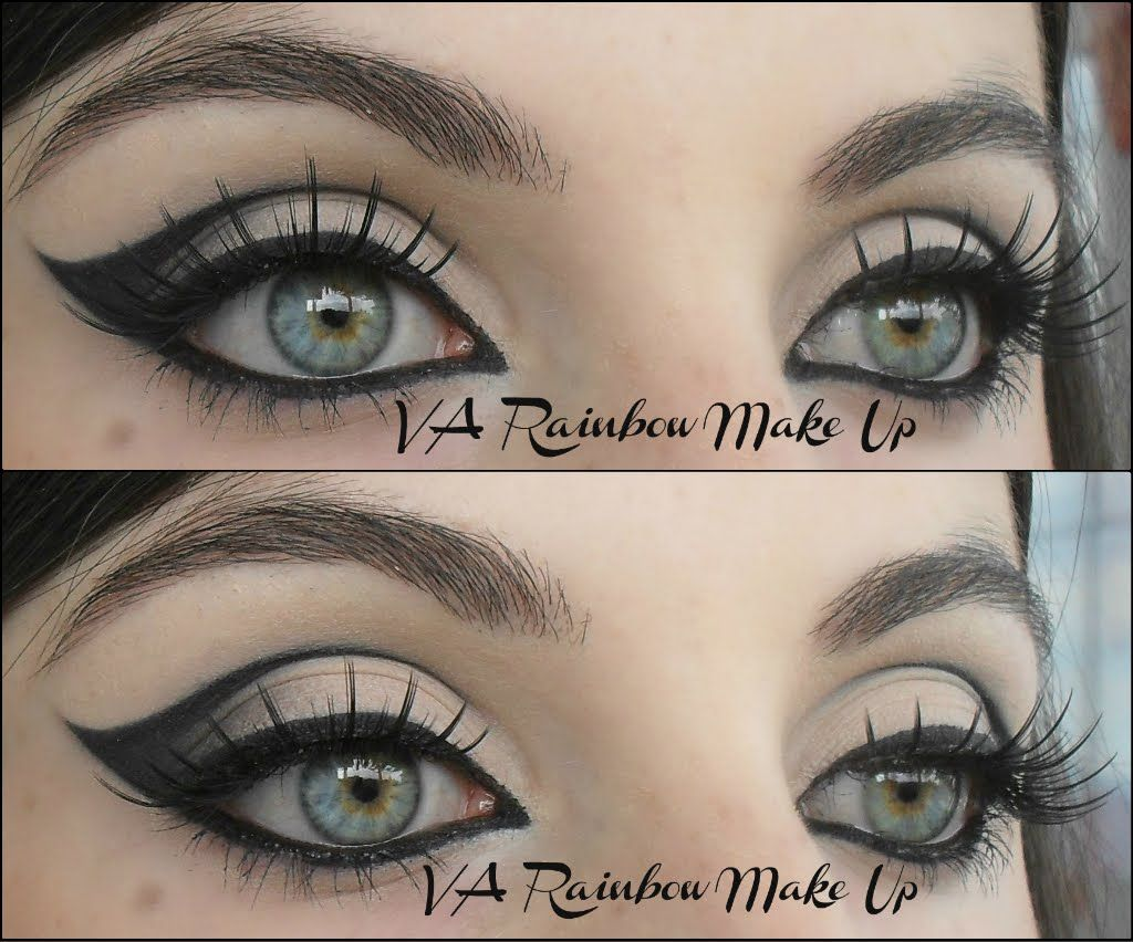 how to make cat eyes with liquid eyeliner