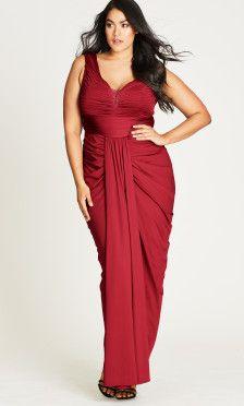 Shop Women\'s Plus Size Seduce Me Plus Size Maxi Dress - Special ...