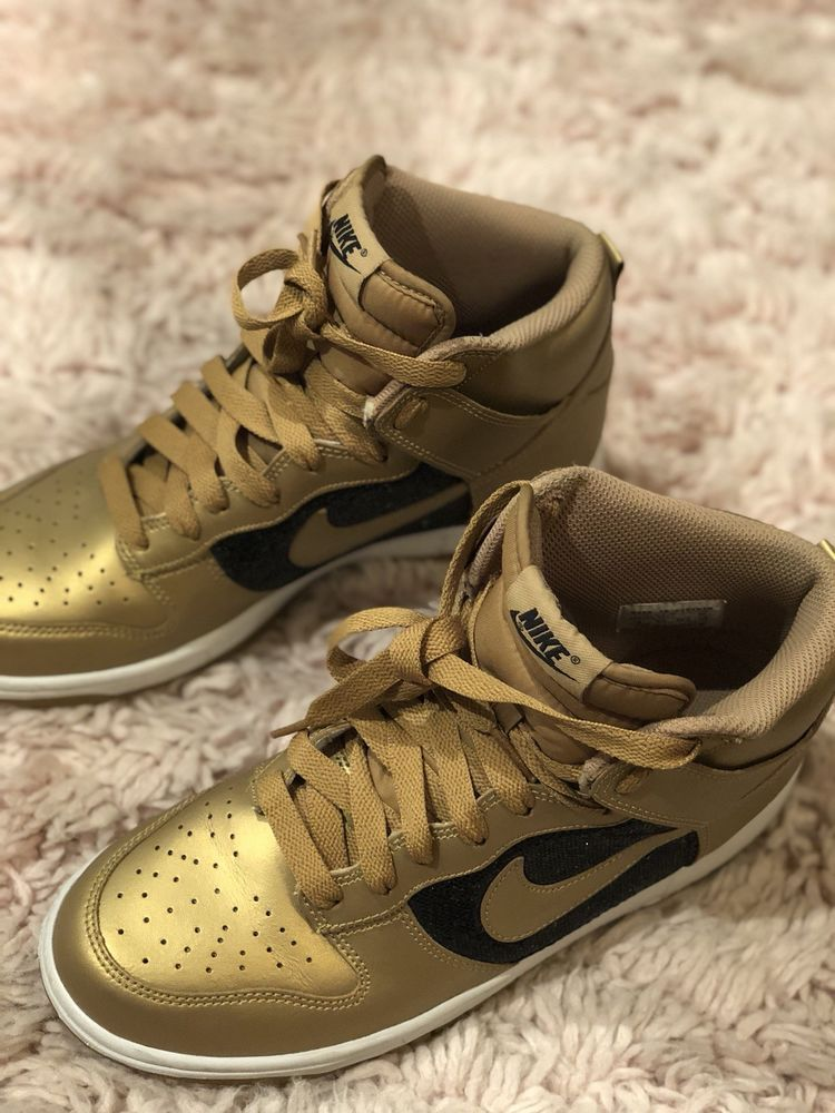Nike Women s Dunk High Gold And Black Glitter High Top Shoes Size 9  325203-771  fashion  clothing  shoes  accessories  womensshoes   athleticshoes  ad (ebay ... 6813858f8ec2
