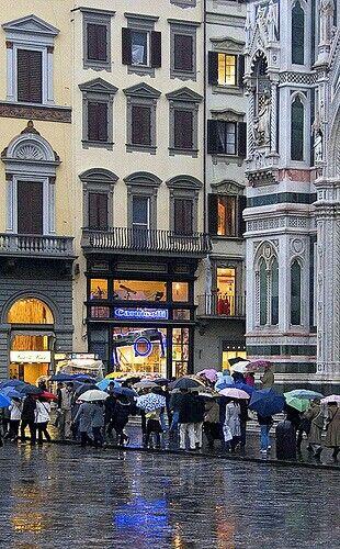 Lluvia en Florencia