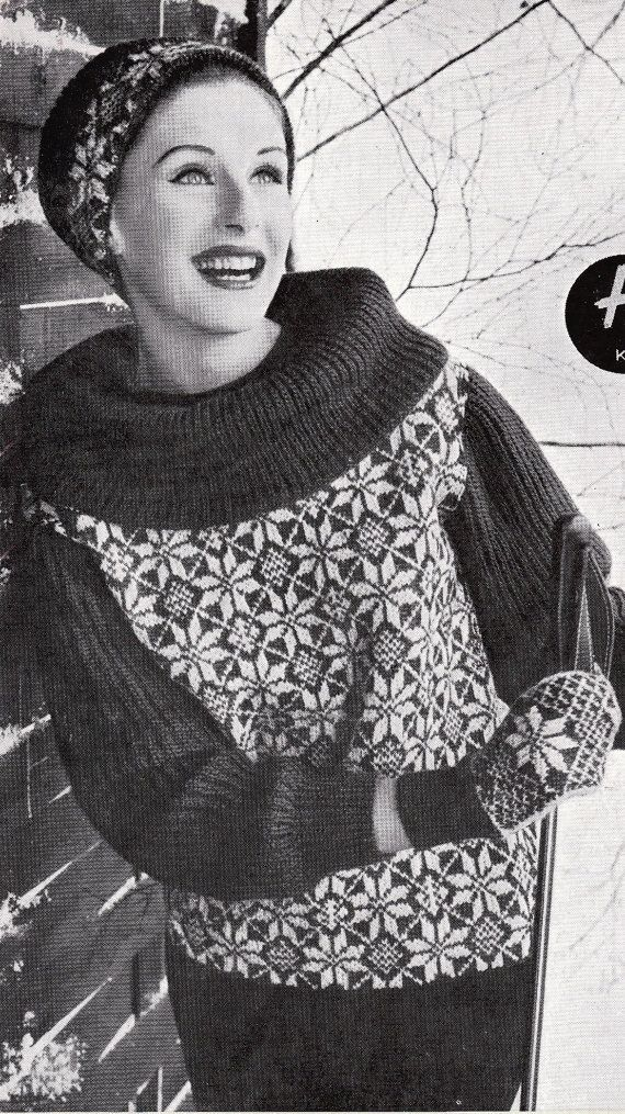 THESE ARE DIGITAL KNITTING PATTERN INSTRUCTIONS, 3 Sizes | Fair Isle ...