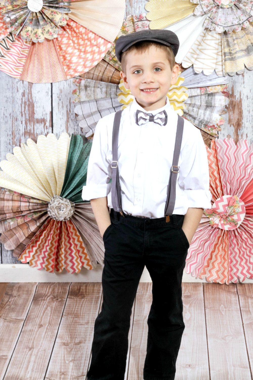 9cec954751f65 boys bow tie suspender set