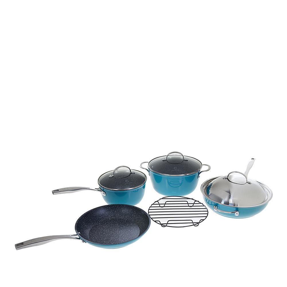 Curtis Stone Dura Pan Nonstick 8 Piece Essential Cookware Set