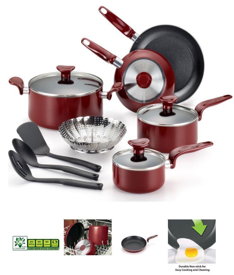 12 Piece Non Stick Cookware Set Kitchen Aluminum Pots And Pans