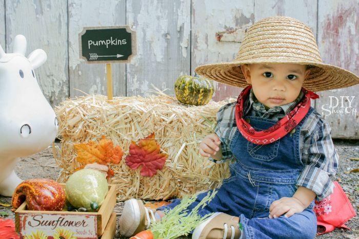 cutest baby farmer DIY costume  diyshowoff 6d355c7425d