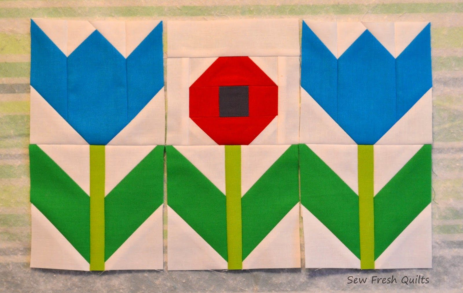 Sew Fresh Quilts: Elephant Parade - Week 6 - Flowers