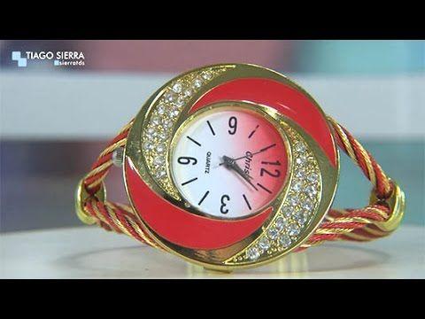 Relógio Pulseira Quartz Feminino Com Strass Vermelho
