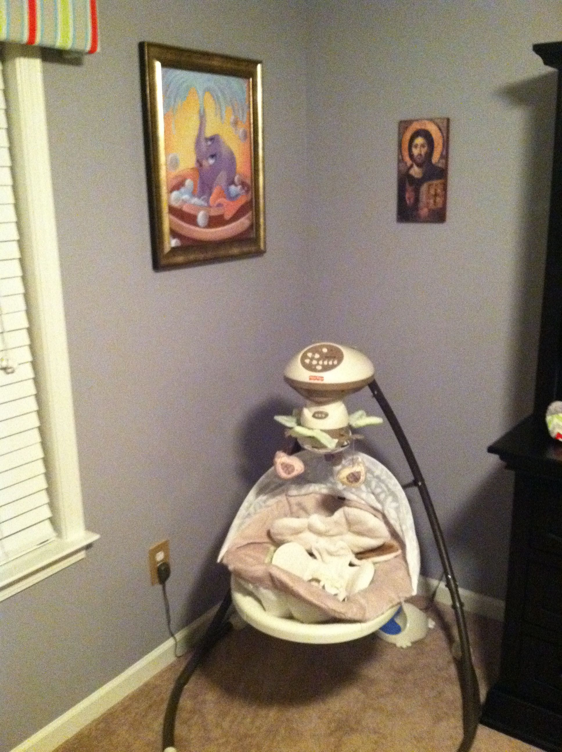 Baby Swing ( We Later Moved To Living Room Area), Picture Of Baby Dumbo