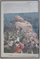 ery rare bound volume of LA TRIBUNA ILLUSTRATO DELLA DOMENICA, for the year 1896. It is loaded with the Italian campaign in Ethiopia. This journal only existed for a few years. Each issue was 8 pages, with the front and back covers color illustrated. A rare find. Covers the period from April 5 to December 27. 39 issues in all.