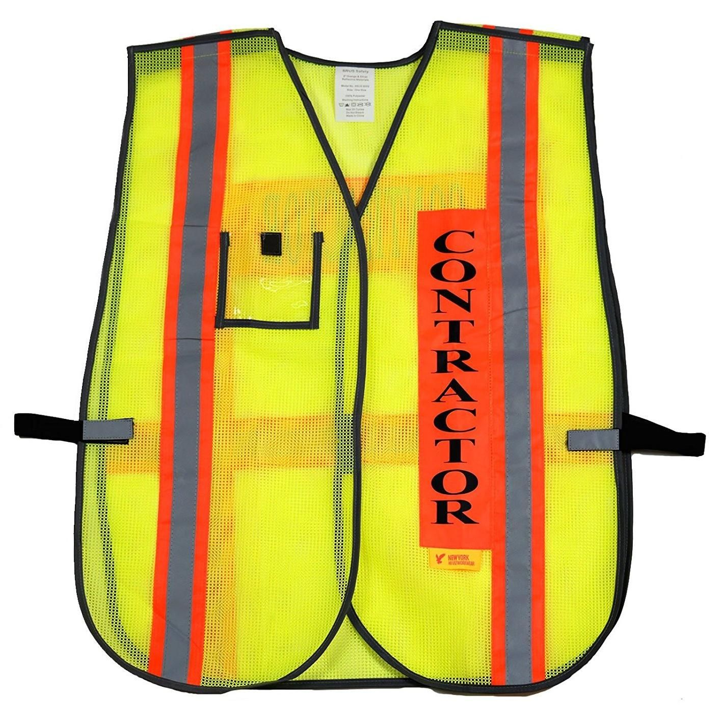 Contractor Safety Vest with Reflective Stripes 8001