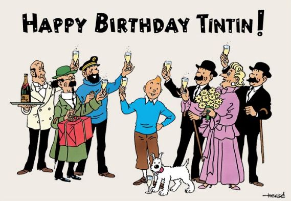 "Happy Birthday, Tintin! His first adventures were published on January 10, 1929 in the children's pages of the Belgian conservative Catholic newspaper ""Le Vingtième Siècle."""