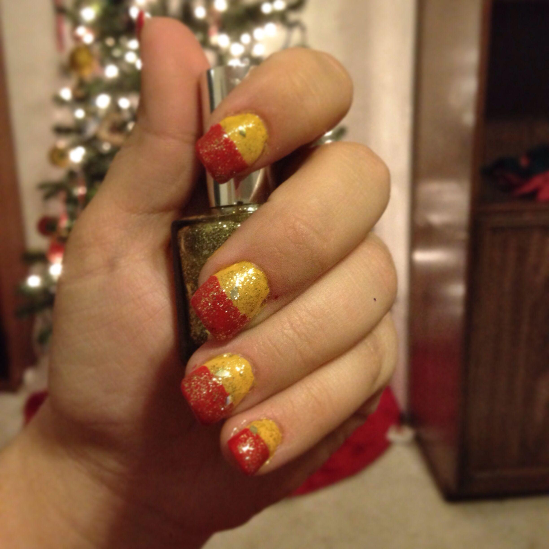 Kansas City Chiefs nail art | KC Chiefs | Pinterest
