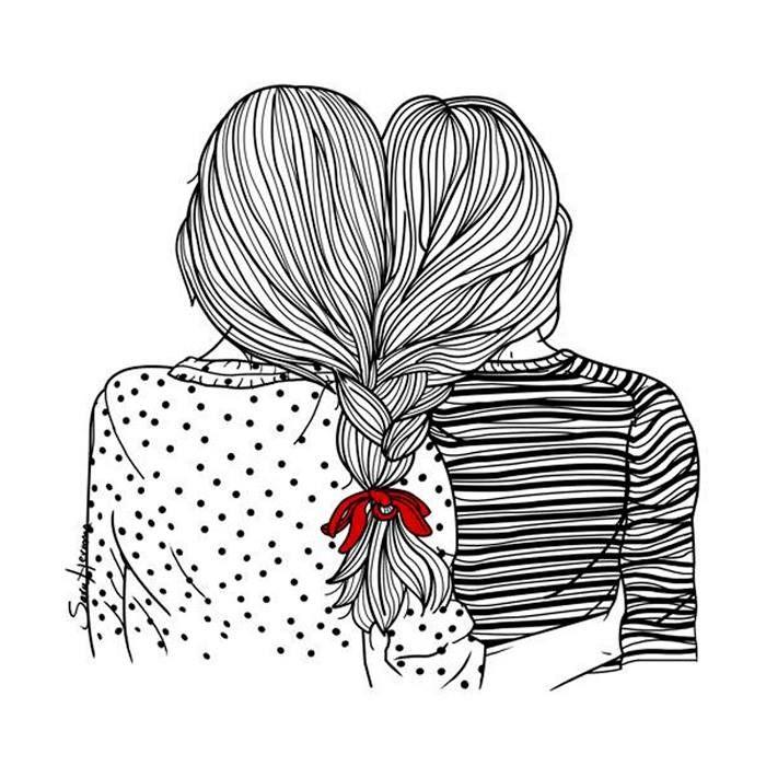 Unidas Por La Trenza Best Friend Doodles Sara Herranz