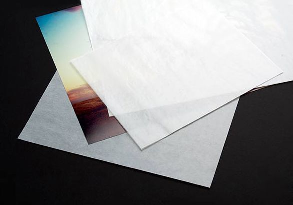 Glassine Sheets for protecting  oil paintings
