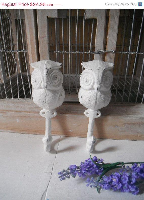 owl coat hooks owls nursery decor jewelry holder by ShabbyRoad, $21.21
