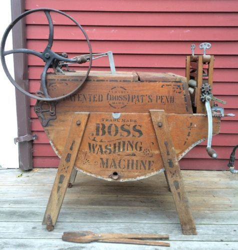 Antiques #Gifts RARE!!! Antique BOSS Washing Machine Wooden 1899 ...