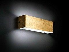 Applique a led foglia oro square applique metal lux di baccega