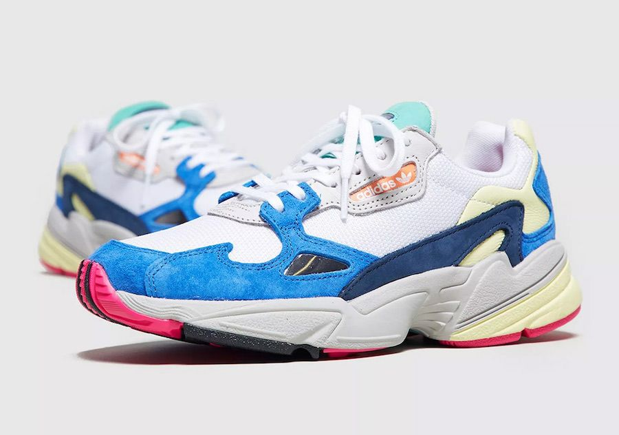 reputable site cce23 716dd The adidas Falcon White Blue (Style Code  BB9174) will be part of adidas  Originals September 2018 lineup, which will see over eight colorways  release.