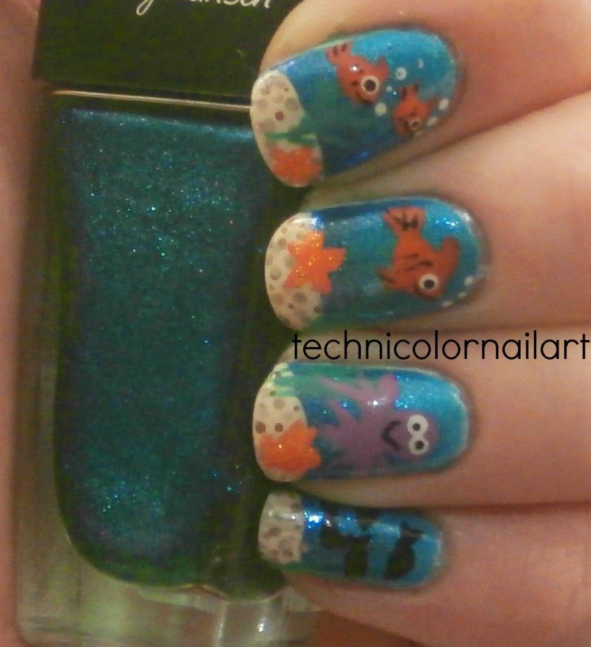 Technicolor Nail Art: Under The Sea Nail Art