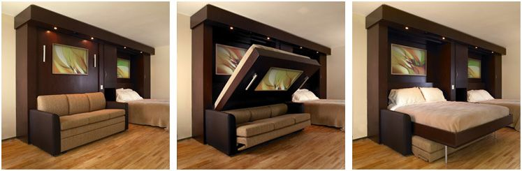 Inova TableBeds SofaWallBeds And Traditional Murphy Beds Made - Murphy bed couch ideas space savers