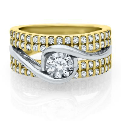 Sirena Forever® 1 1/4 ct. tw. Diamond Engagement Ring in 14K Gold, available at #HelzbergDiamonds