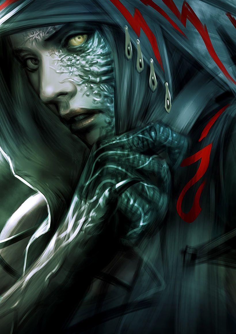 Half Dragon Female Npc Possibly A Magic User But The