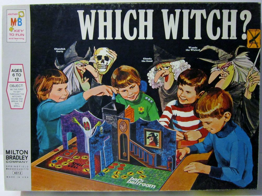 Which Witch ? Board Game Milton Bradley * COMPLETE * 1971 Vintage Rare OOP 4012 #MiltonBradley