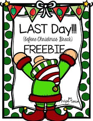 december school activities free last day before christmas break activities
