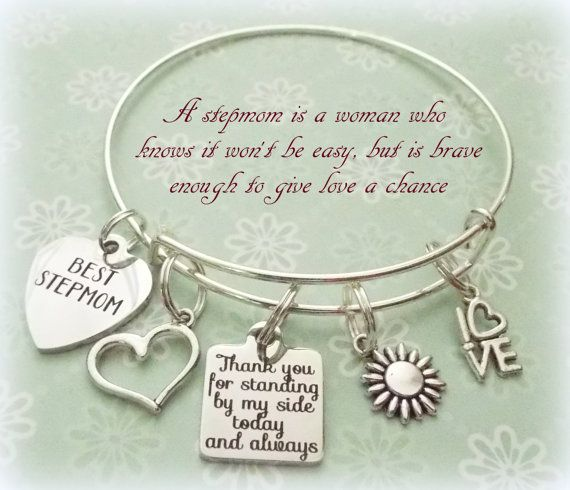 Nice Wedding Gift Ideas: Stepmother Gift Stepmom Charm Bracelet Gift By