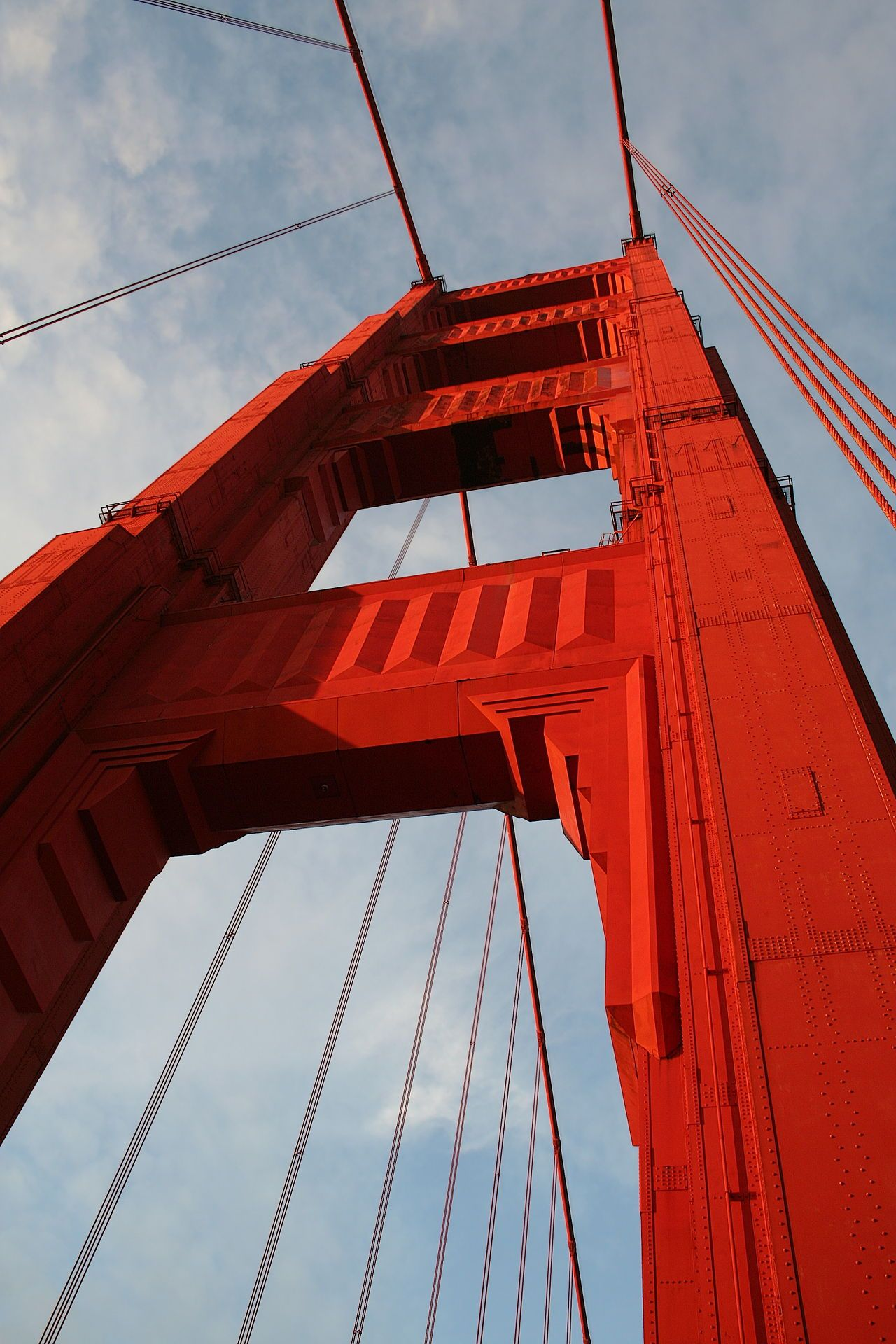 Image result for south tower seen from walkway with art deco elements of golden gate bridge