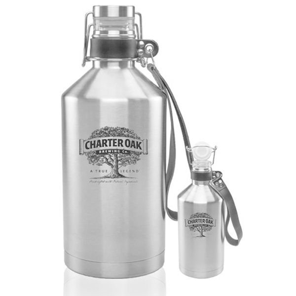 0360b9f15e 64 oz Canteen Stainless Steel Beer Growlers | Swag | Logo'd Stuff ...